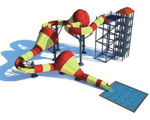 New Style Water Slide Ride for Sale